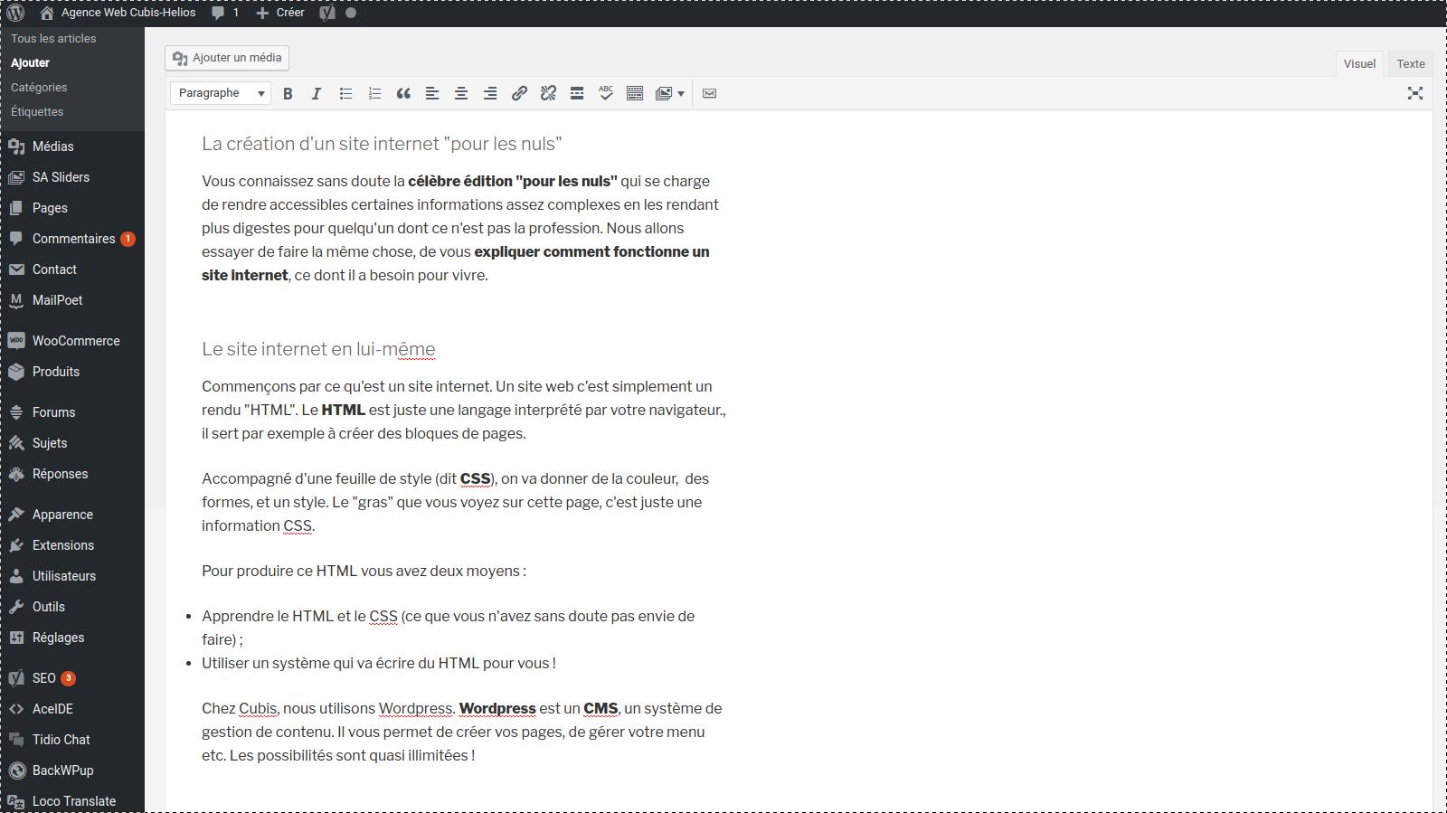 Créer un site internet avec WordPress