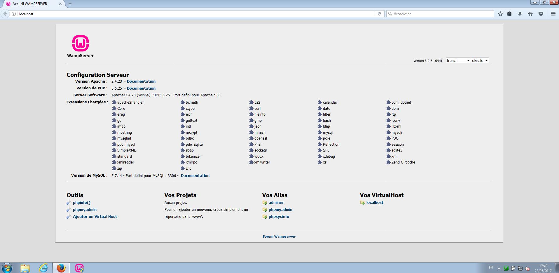 WAMP création site internet Apache HTTPD